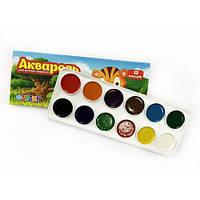 Акварель Фарбик 12 цветов картон