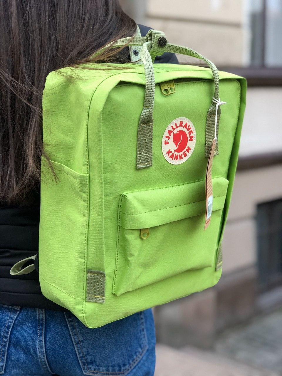 Рюкзак Fjallraven Kanken Birch Green, 16л, Материал: Vinylon F 100%