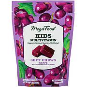 Мультивитамины для детей, вкус Винограда, MegaFood, 30 жевательных конфет