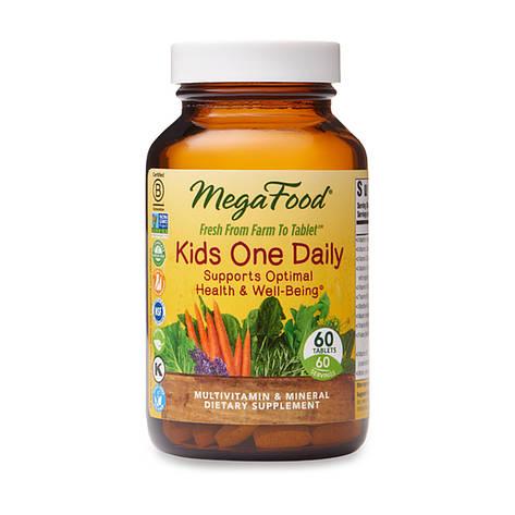 Детские ежедневные витамины Kids One Daily, MegaFood, 60 таблеток, фото 2