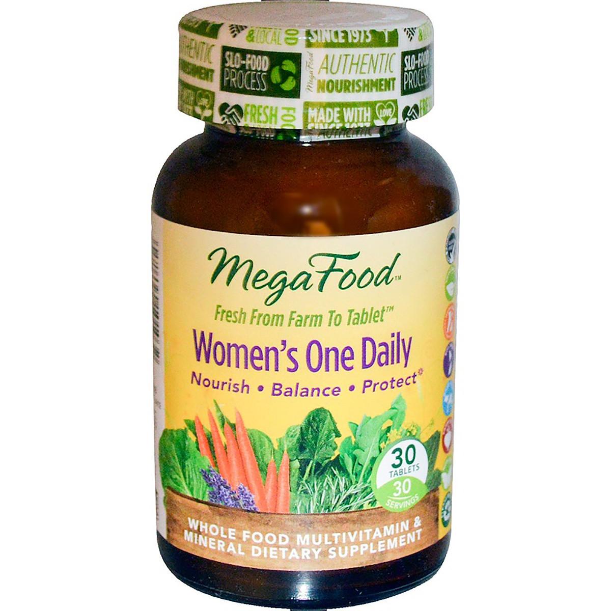 Мультивитамины для женщин Women's One Daily MegaFood 30 таблеток