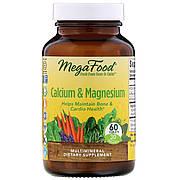 Кальций и Магний, Calcium & Magnesium, MegaFood, 60 таблеток