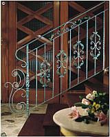 Кованые перила лестницы-16