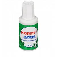 Корректор 20 мл Kores AQUA с кисточкой водная основа K69101