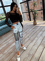 Костюм: топ+ рефлективные штаны