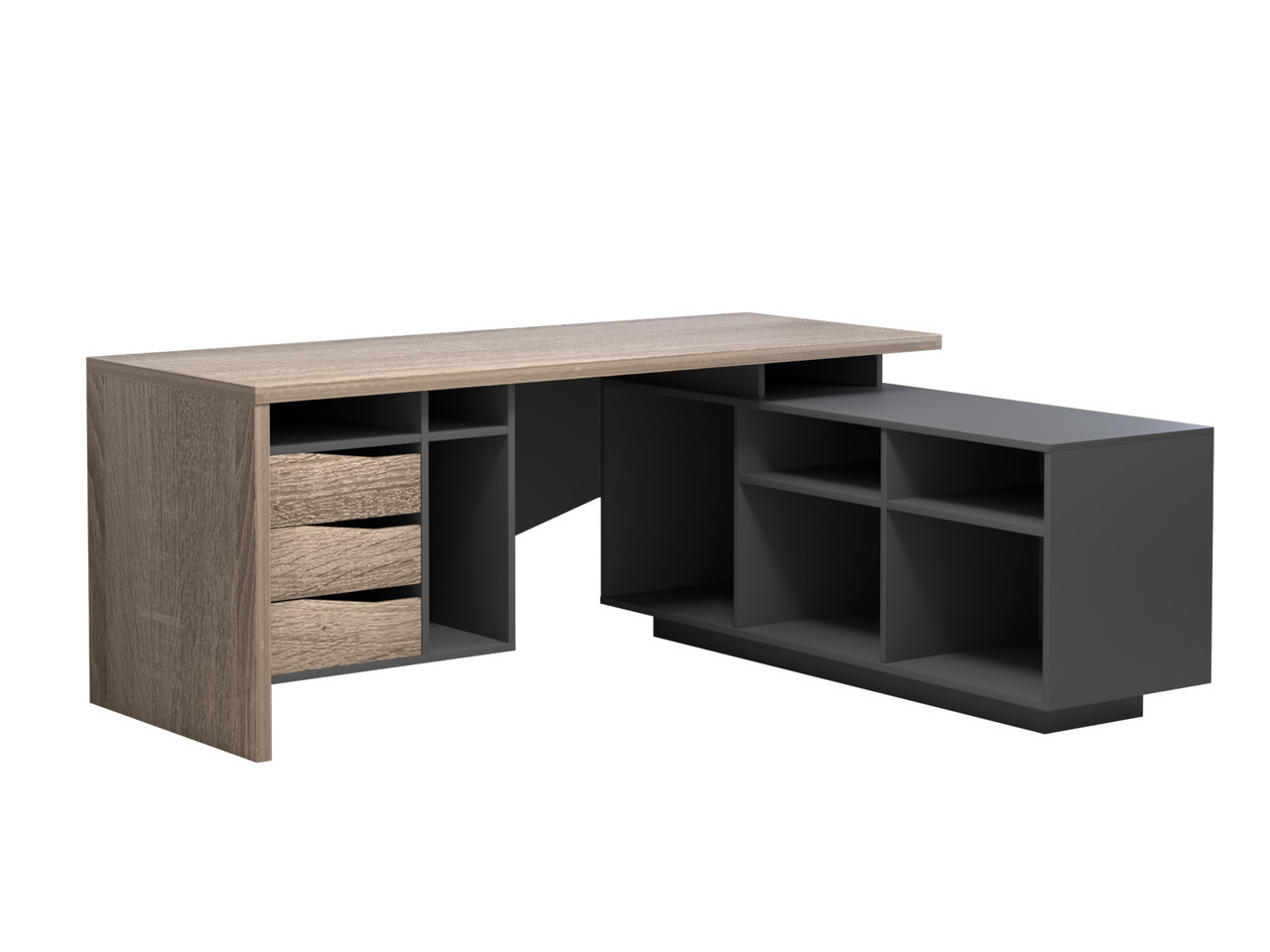 Стол компьютерный Intarsio Connect 1 Слева