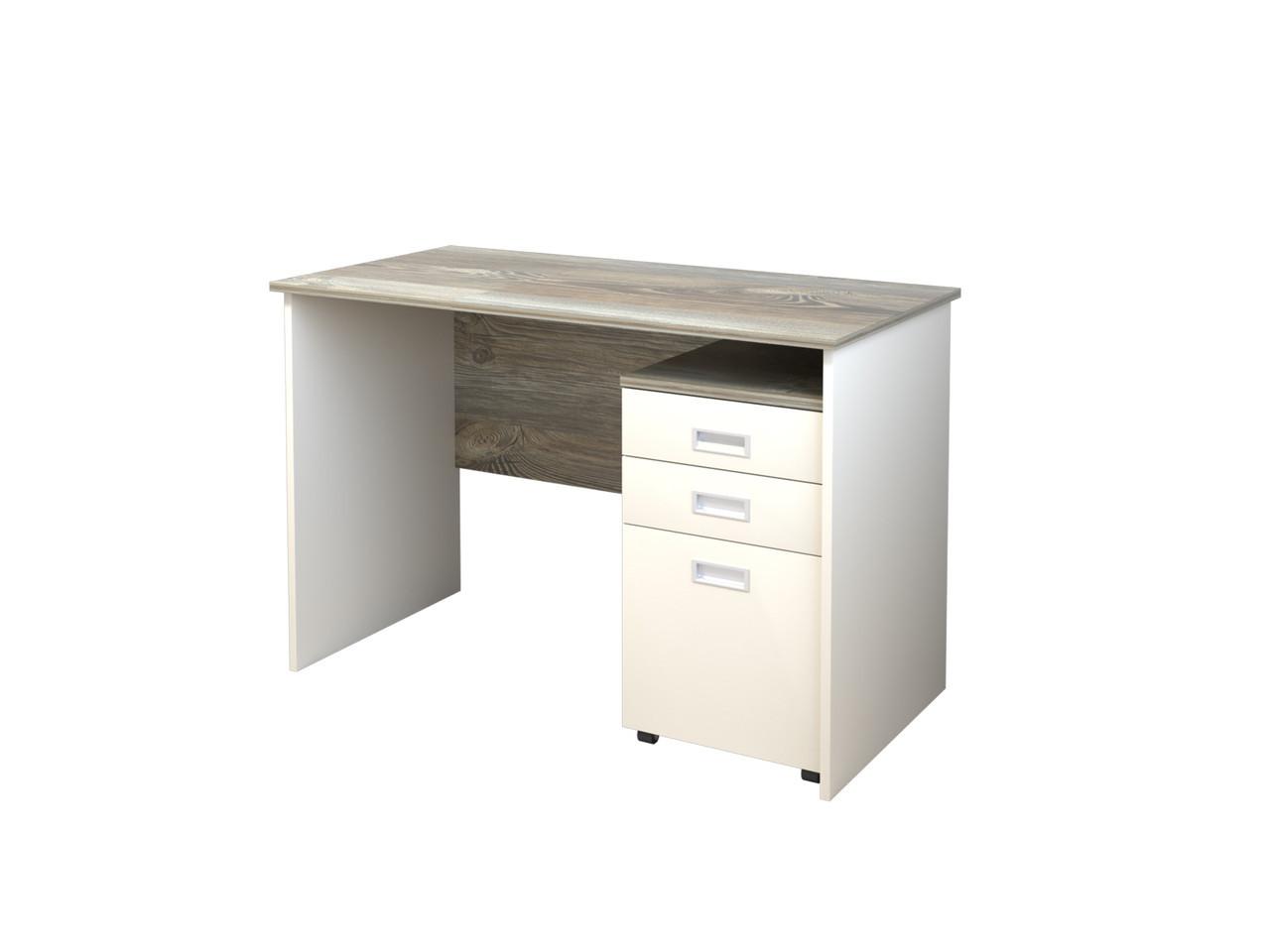 Стол компьютерный Intarsio Soft 120х60х78,6 см Роликовые направляющие