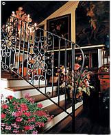 Кованые перила лестницы-17