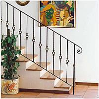 Кованые перила лестницы-18