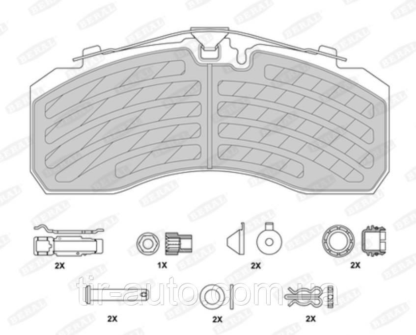 Накладки тормозные дисковые Knorr SB/SN7 ( WVA29253 ) ( BERAL ) 2925330004145694