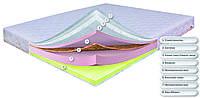 Матрас беспружинный Dz-mattress Монтре ортопедический с кокосовой койрой и пеной Memory 140х200 см