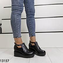 Туфли на танкетке черные, фото 2