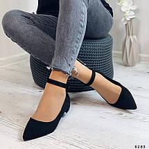 Осенние женские туфли на низком каблуке, фото 2