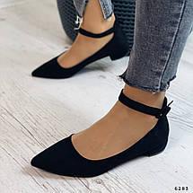 Осенние женские туфли на низком каблуке, фото 3