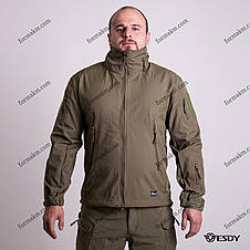 Тактическая Куртка Soft Shell ESDY TAC.-02 Olive непромокаемая 3XL, фото 2