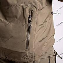 Тактическая Куртка Soft Shell ESDY TAC.-02 Olive непромокаемая 3XL, фото 3