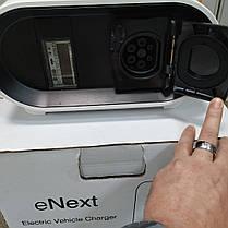 Станція для зарядки електромобілів eNext S 7.4 кВт 230В 32A Type2 кабель 5м, фото 3