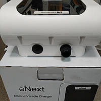 Станция для зарядки электромобилей eNext Park SME 3.7кВт 230В 16A Schuko + 7.4кВт 230В 32А Type2 роз