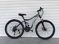 """Велосипед спортивный двухподвесной TopRider-920 26"""" салатовый, фото 1"""