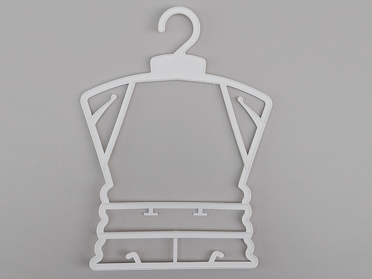 Плечики вешалки тремпеля каркас Л-23 белого цвета, длина 23 см