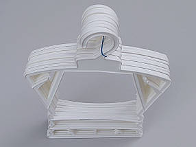 Плечики вешалки тремпеля каркас Л-23 белого цвета, длина 23 см, фото 2