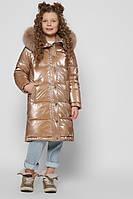 Стильная удлиненная куртка для девочек на зиму, размеры 28, 32