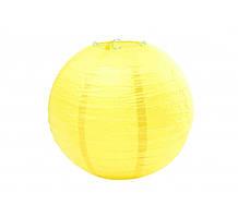 Бумажный подвесной шар желтый, 20 см
