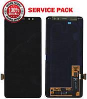 Дисплейный модуль (экран) для Samsung A730 Galaxy A8 PLUS (2018) Чёрный (GH97-21534A) Original