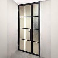 Стеклянные двери в стиле лофт