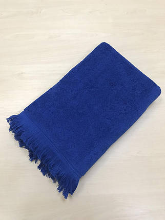 Махровое полотенце uztex home 500 бахрома 70*140 см синий #S/H, фото 2