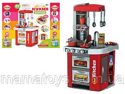 Детская игровая кухня Kitchen Set 922-48А из крана течет вода, 49 предметов. Звук, свет, духовка, Высота 72 см