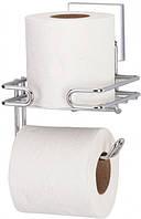 Держатель для туалетной бумаги и запаски, самоклеющийся Tekno-tel EF275-K