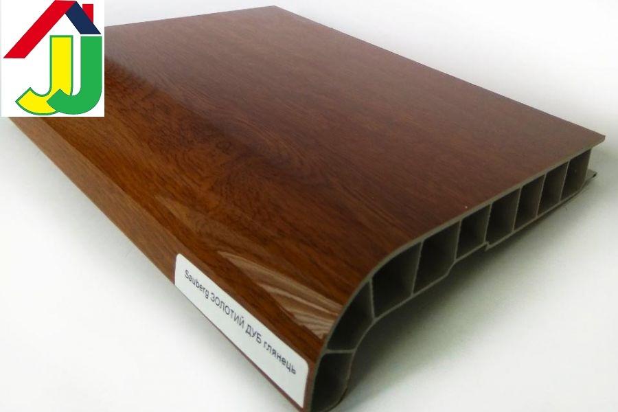 Підвіконня Sauberg (Ламінація) Золотий Дуб Глянець 500 мм вологостійкий, термостійкий, для вікон