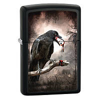 Zippo 28319 Goth Raven Eyeball black matte