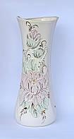 Настольная керамическая ваза «Румба белая» 38 см
