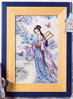 """Набор для вышивки крестом """"Японская девушка в голубом платье"""" - снят"""