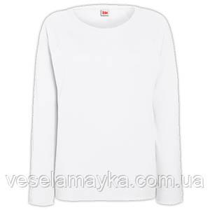 Белый женский свитшот (толстовка-реглан)