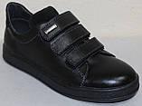 Кроссовки детские на липучках из натуральной кожи от производителя модель ДЖ28, фото 2
