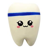 Мягкая игрушка антистресс Сквиши Squishy Зуб №60 - Синий