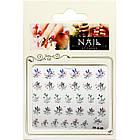 Самоклеющиеся Наклейки для Ногтей 3D Nail Sticrer FP-К-09 Цветы Листья с Камушками для Декора и Дизайна Ногтей, фото 3
