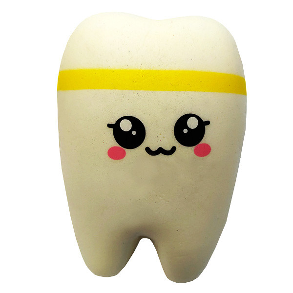 М'яка іграшка антистрес Сквиши Squishy Зуб №61 - Жовтий