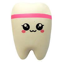 Мягкая игрушка антистресс Сквиши Squishy Зуб №62 - Розовый