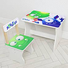Детский деревянный столик и стульчик Монстры BAMBI 504-91 для детей от 1 года