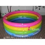 """Надувной бассейн Intex 57412 NP. """"Радуга"""". 114см диаметр.С надувным дном.Для детей от 3-х лет. Насос в подарок, фото 4"""