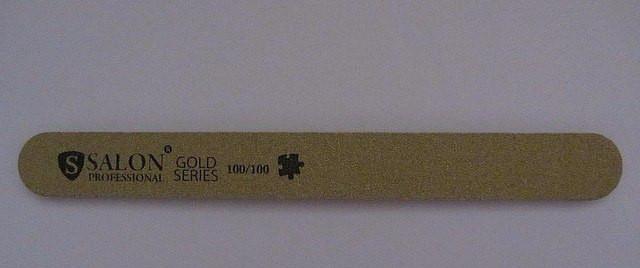Пилка Salon 100/100 пряма золота