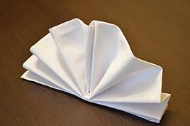 Салфетка 45х45 Белая Н-245 для Сервировки в Ресторан Хлопок+ПЭ