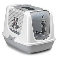 Закритий туалет з фільтром і совком Moderna Trendy Cat Cats in Love (57,4* 44,8* 42,7 див.)