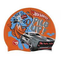 Шапочка для плавания детская AR-91674-50 HOT WHEELS FW11 (силикон, оранжевая)