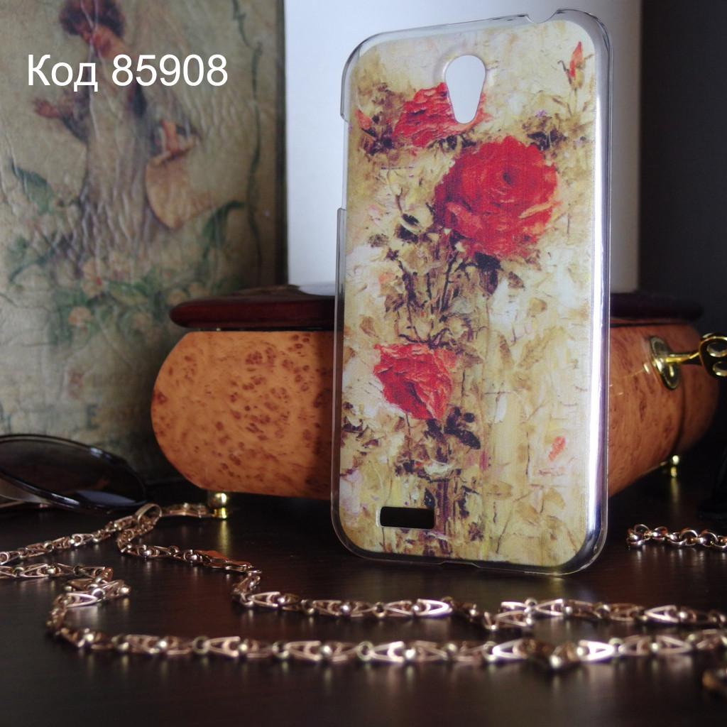 Чехол для lenovo a859 панель накладка с рисунком розы картина