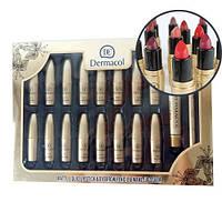 Тональный крем Dermacol набор помад 18 in1, Набор матовых помад Dermacol+ тональный крем, карандаш для бровей!